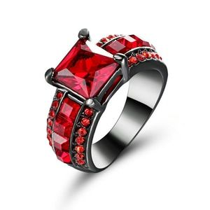 Ruby Black Gold Filled Woman Ring 7